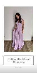 Vestido de festa lilás/lavanda (38/40) - temos outros modelos disponíveis