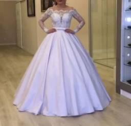 Vestidos de noiva renda manga comprida sob medidas Ateliê
