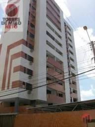 Apartamento com 3 dormitórios para alugar, 80 m² por R$ 1.100,00 - Fátima - Fortaleza/CE