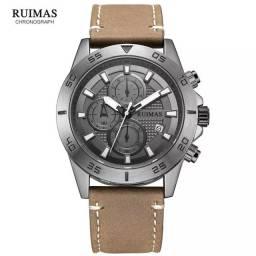 Relógio de pulso masculino original Megir movimento de quartzo
