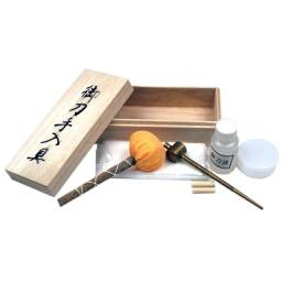 Kit de limpeza luxo para  espadas katana aço carbono