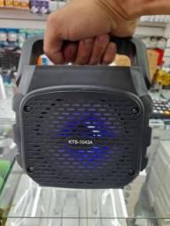 Título do anúncio: Caixa De Som Pocket KTS-1134 Bluetooth Pen drive Cartão SD