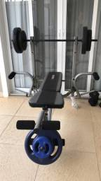 Banco academia Kikos Bak-80 regulável fitness