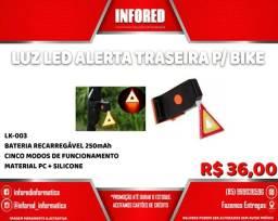 Título do anúncio: Luz Led Alerta Traseira para Bike - R$36,00