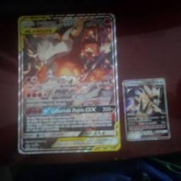 Carta de pokemon gigante GX ALIADOS NOVA