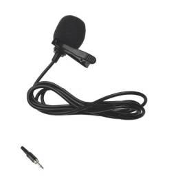 Título do anúncio: Microfone De Lapela  Para Youtubers + Adaptador P2 P3