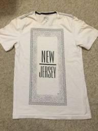 Título do anúncio: Camiseta Tng New Jersey Original Cor Branca Tamanho M Impecável Barbada Zerada!