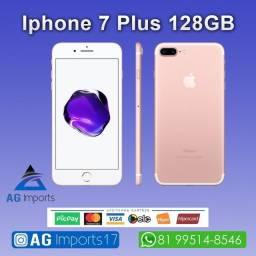 Título do anúncio: iPhone 7 Plus Rosé 128GB - Aparelho de Vitrine - Sem marcas de Uso