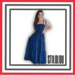 Título do anúncio: Vestido longo azul 90,00 R$