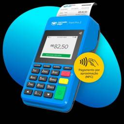 Título do anúncio: Máquina de cartão point pro 2 do mercado pago imprimir o comprovante 4g e wi-fi