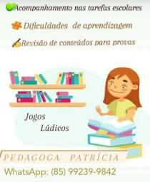 Título do anúncio: Reforço escolar - Pedagoga e psicopedagoga