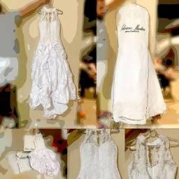Vestido de Noiva - Alta Costura - Excelente Estado - Completo