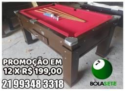 Promoção De Sinuca 12 X R$ 199,00