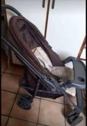 Título do anúncio: Carrinho para bebê (Topázio Premium) - Marrom Glacê.