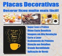 Plaquinha Decorativa Frases para Cantinho do Café Em Mdf 3mm Envernizada 28x20cm