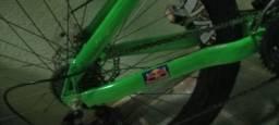 Gios customizada FRX quase toda shimano pintura verde florecente