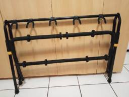 rack dobrável para instrumentos de corda, preto, emborrachado.
