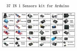 Sensor kit 37 em 1/RRGB/joystick/fotossensível/Detecção De Som/Obstáculo evasão /buzzer