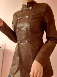 Jaqueta de couro Colcci marrom