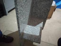 Mesa de mármore com vidro para escritório
