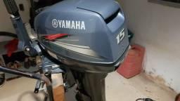 Voadeira com motor de poupa Yamaha 15