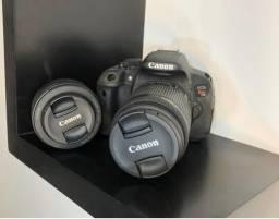 Câmera Canon digital EOS Rebel T5I + 2 Lentes Profissionais + Acessórios
