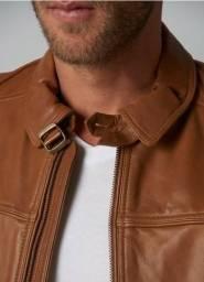Jaqueta de grife original em couro legítimo Le Lis Blanc- Noir