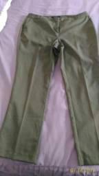 Calça social de alfaiataria feminina,