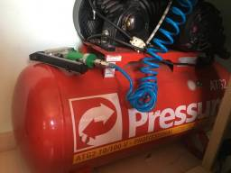 Compressor pressure 100 litros 140ibf 2hp