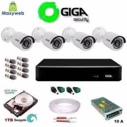 Câmeras, fontes, cabos e Segurança Eletrônica