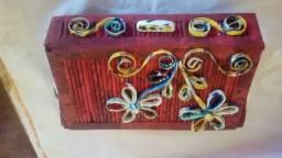 Caixas organizadora em artesanato