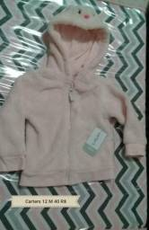 Carters 12 meses jaqueta em Fleece touca gatinho