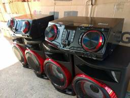 Som LG x-boom DJ multi Bluetooth karaokê USB wireless