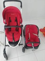 Carrinho de bebe transporte e bebe conforto com base para carro