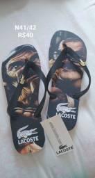Sandálias Lacoste Nike e da Coca-Cola