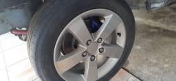 Jogo de Roda Honda Civic, Opala, etc - Furação 5x114 R16 com Pneus