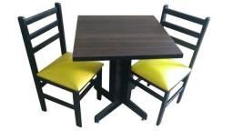 Combo com 12 Mesas e 24 Cadeiras Para Lanchonetes