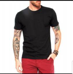 Camisas lisas Pretas 100 % algodão com alta qualidade