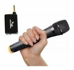 Microfone sem fio Profissional Vhf