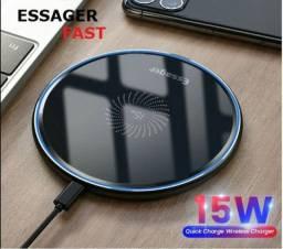 Essager 15w Qi Carregador Sem Fio Para iPhone, Mi , Samsung