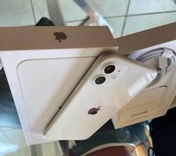 iPhone 11 Branco novo, 100% saude da bateria, com Nota fiscal