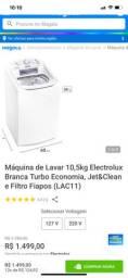 Máquina de lavar Electrolux 10,5 quilos