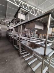 Título do anúncio: Mesas em inox para restaurantes a preço de fabrica 25% desconto PIX