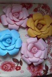 Flores Decorativas de Papel