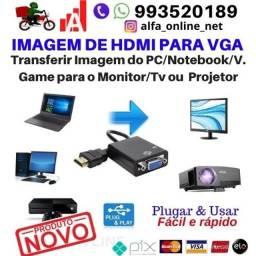 Título do anúncio: Adaptador Hdmi para Vga do Computador Conversor, Ps3,XboX360/ one para Monitor ou Projetor