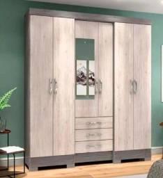 Título do anúncio: Guarda-Roupa Casal 6 porta, 3 gavetas