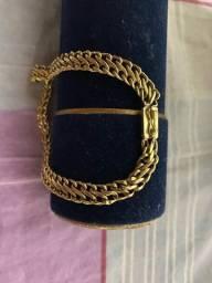 Vende pulseira em ouro 18k
