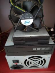 Drive DVDR/CD grava CD DVD, Drive Diskete, Cooler Processador, funcionando entrega R$5