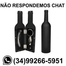 Título do anúncio: Kit Itens para Vinho - Formato de Garrafa * Entregamos