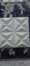 Título do anúncio: Placa de gesso 3D modelo culinans 40x40 30x30